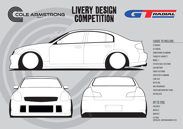 Cole Armstrong Drift Livery Competition On Behance