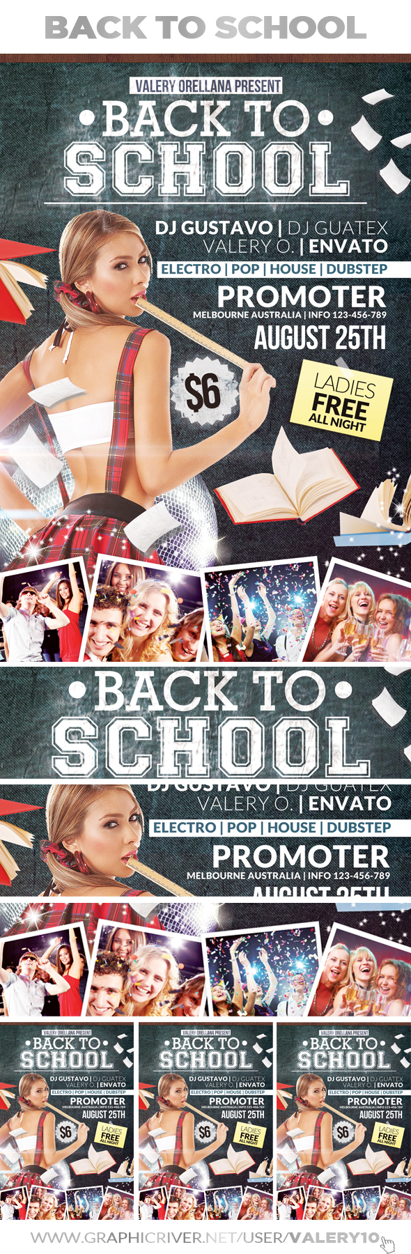 back to school flyer template on behance