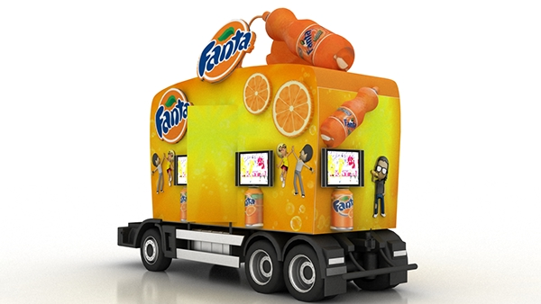 fanta truck fanta caravan on behance