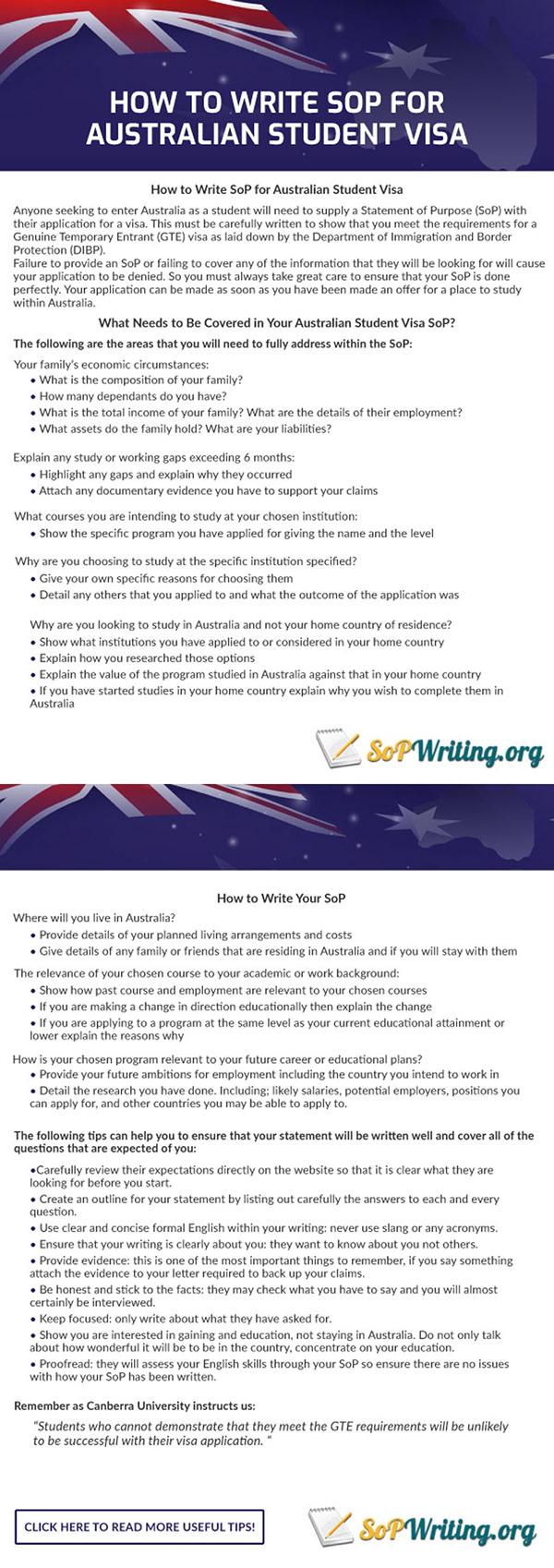 How to Write Sop for Australian Student Visa on Pantone