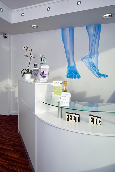 Reception area, Feet etc.