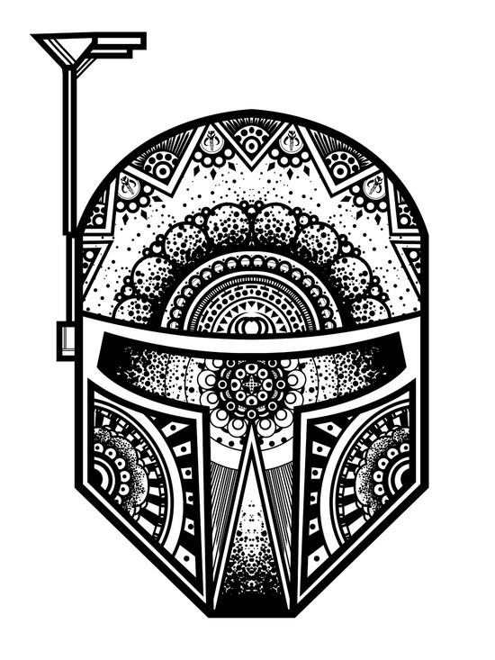 boba fett mandala on behance. Black Bedroom Furniture Sets. Home Design Ideas