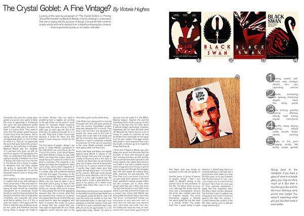 The Crystal Goblet // Essay, magazine layout on Behance