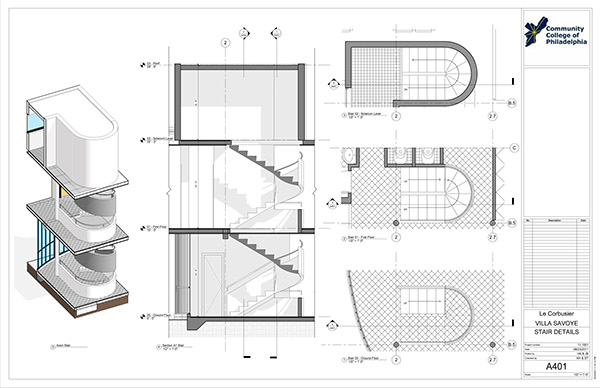 Villa Savoye Revit Construction Documentation On Philau Portfolios