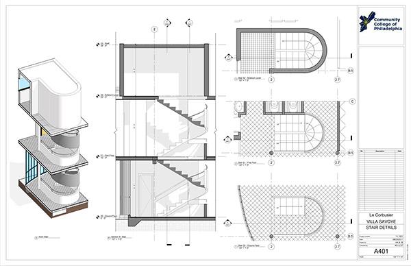 Villa Savoye-Revit Construction DocumentationVilla Savoye Section
