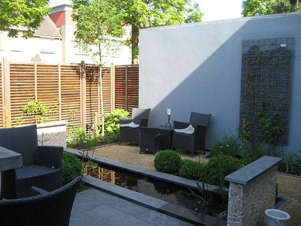 Modern patio garden in leiderdorp on behance - Lounge warme kleur ...