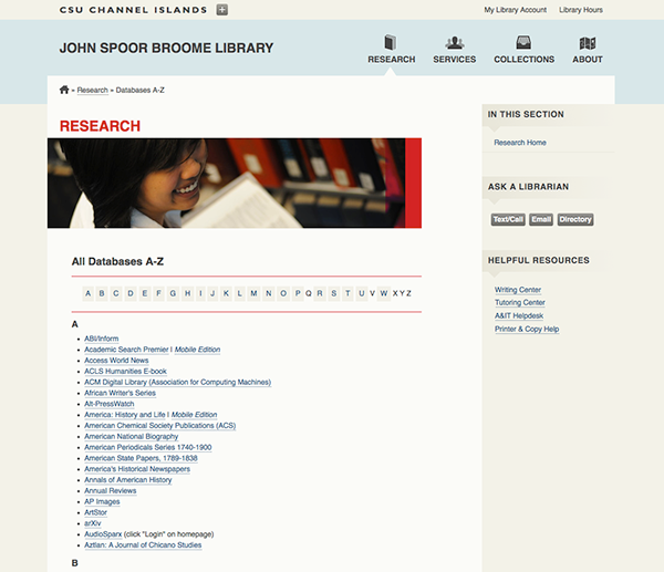 library light minimal University CSU