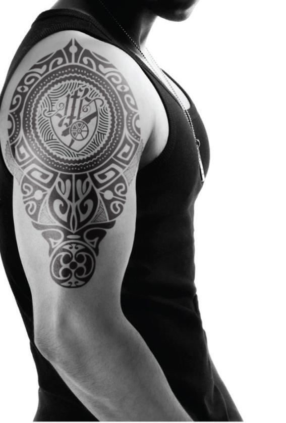 Arsenal Fc Logo Rethink Tattoo On Student Show