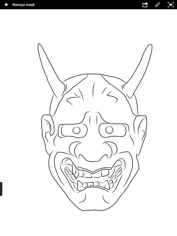 Hannya Mask - tattoo d...