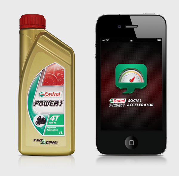 Castrol  Power One social accelerator app ios android blackberry media network
