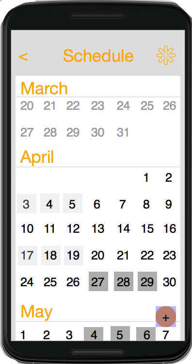 scheduling android two users
