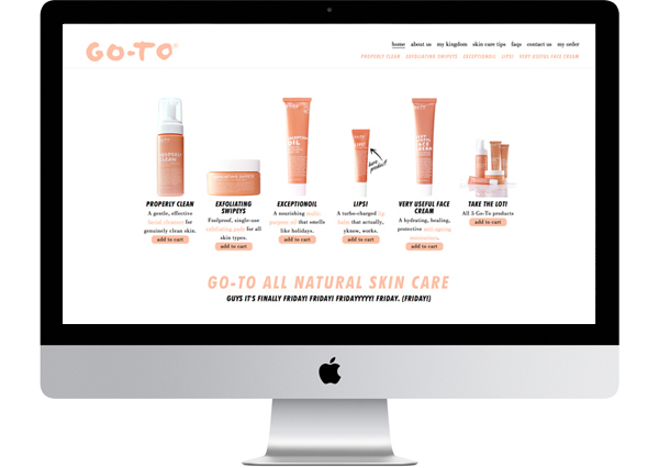 Go To Skincare Website Marketing On Behance