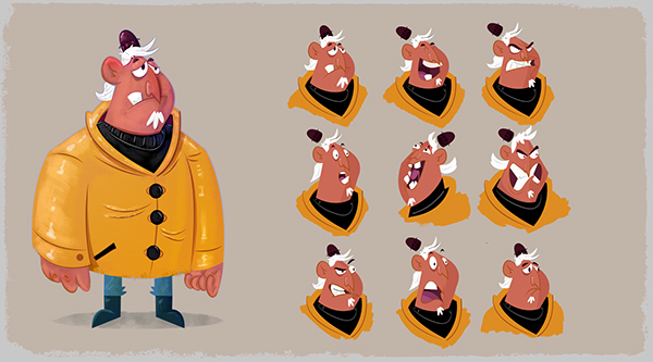 Cartoon Character Design Process : Character design visual development portfolio on