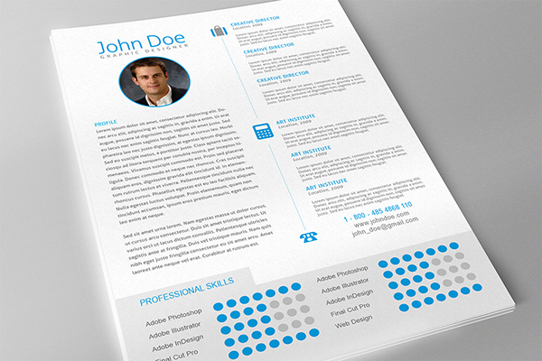 professional resume template for adobe indesign on behance. Black Bedroom Furniture Sets. Home Design Ideas