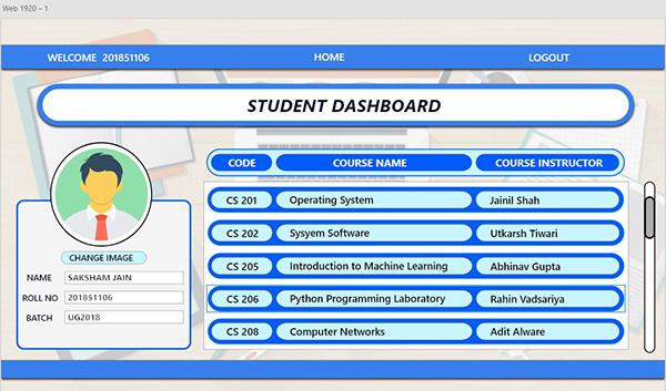 Student Dashboard Design