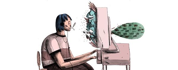 bant mag. sabitfikir yalnızlar mektebi peyman Is Bank watercolor digital