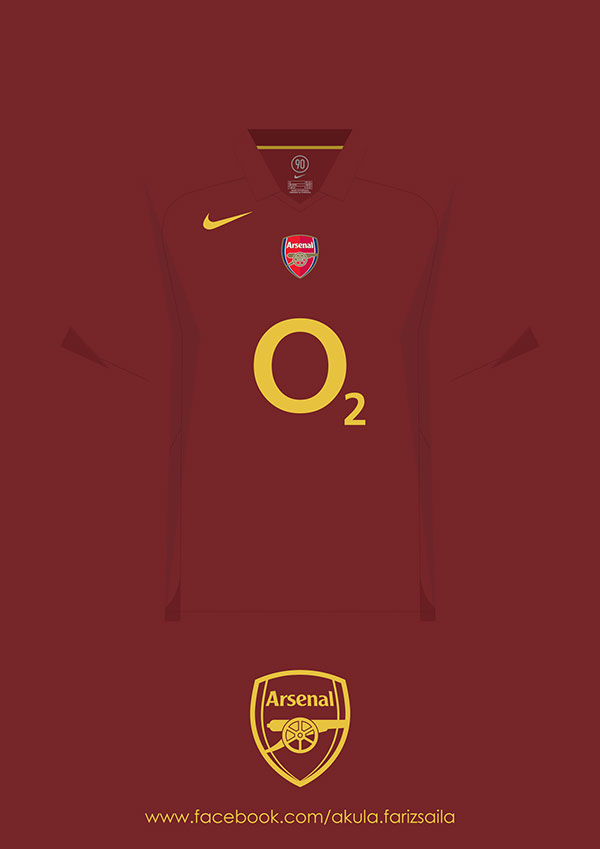 Arsenal 2005 2015 Kit Collection On Behance