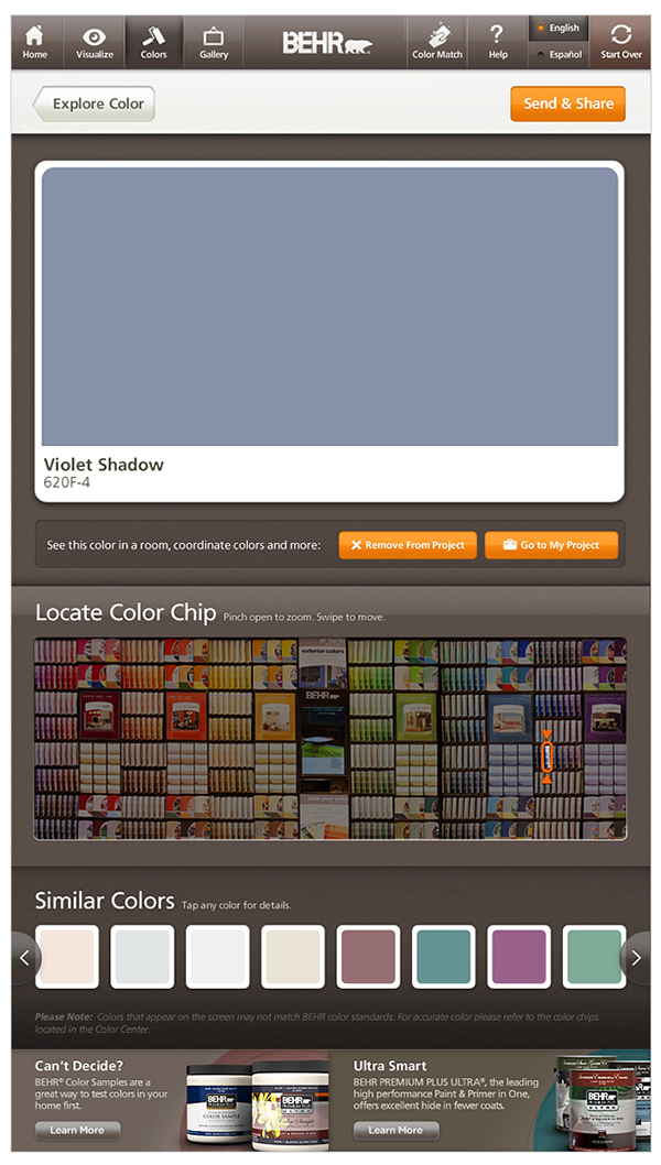 ColorSmart Paint Color Selector Tool  Behr