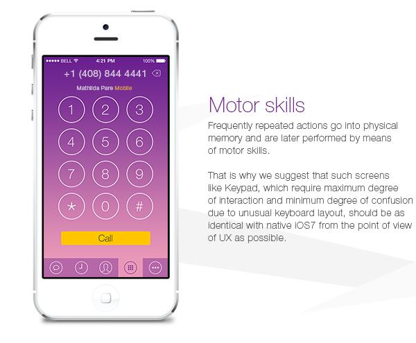 Viber iPhone iOS 7 Concept on Behance