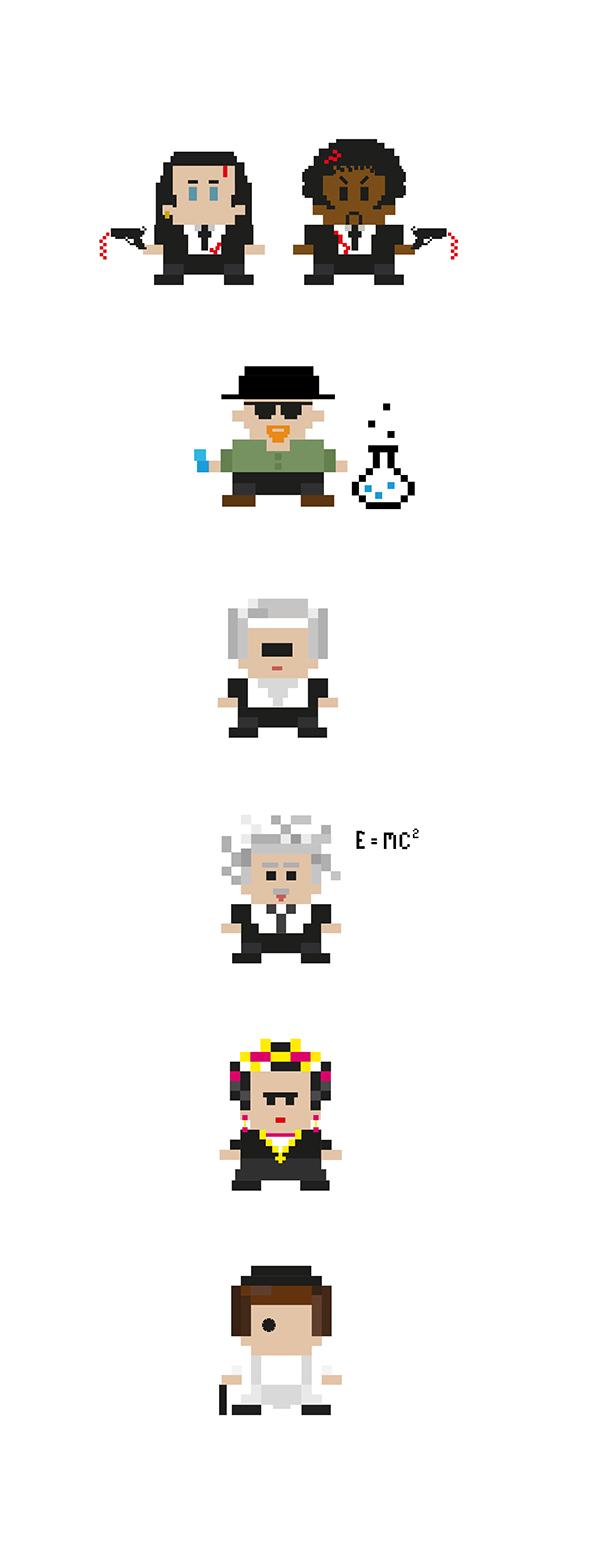 Pixel Character Design Tutorial : Pixel art on pantone canvas gallery