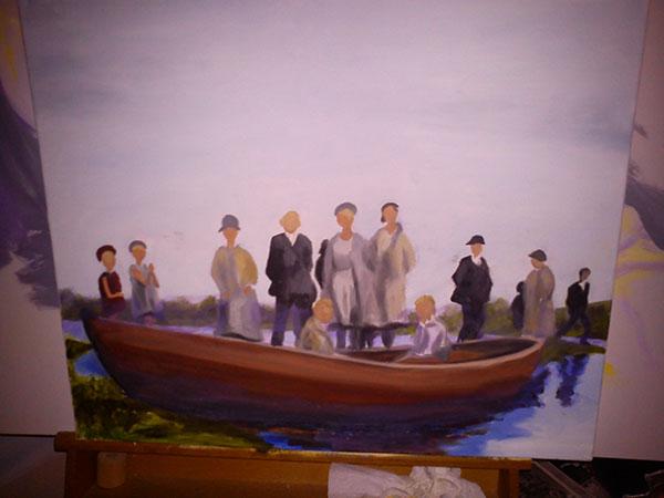 Oil painting ongoing projects. Old photographs. portrait paint helsingborg danmark Farfar Olderfar