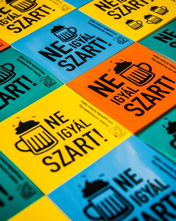 sticker ne igyál szart beer guerilla campaign craft beer don't drink shit drink