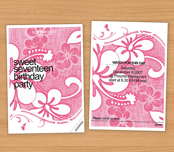 Birthday invitation card on behance stopboris Choice Image