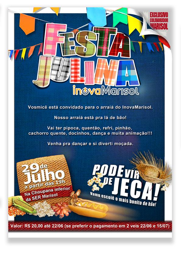 festa julina marisol convite