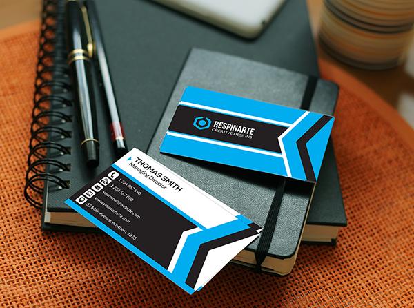business card CMYK corporate creative design graphic horizontal modern photoshop psd respinarte template