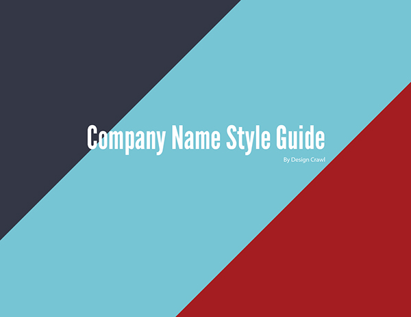 Free Style Guide Template (Ai Format) on Behance