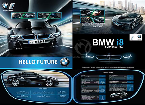 BMW I8 Concept Car Brochure on Behance