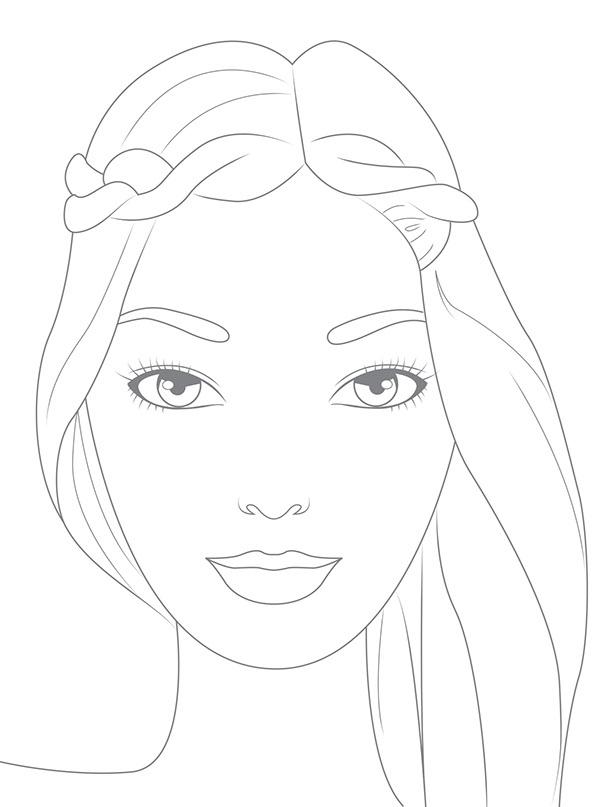 Modelle Da Colorare.Illustrations For Creative Make Up Book On Behance