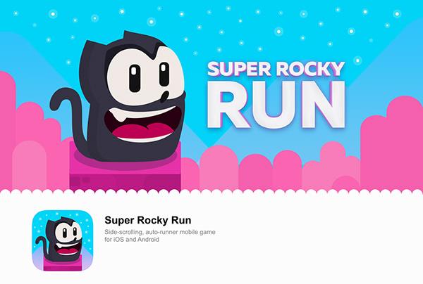 Super Rocky Run - Mobile Game