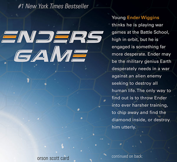 enders game theme essay • current essay: orient express  the theme of the story can be interpreted many ways, and the author of ender's game believes that there is no theme.