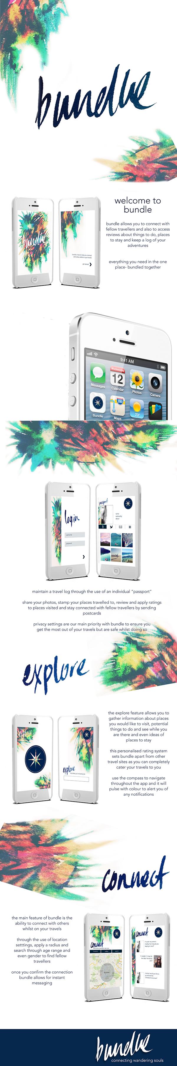 watercolour graphicdesign Appdesign Handlettering identity Interface design Travel UI app ios phone