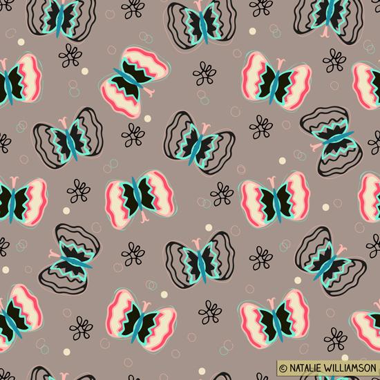 Flutter By Butterfly Surface Pattern & Wall Art Prints on Pantone