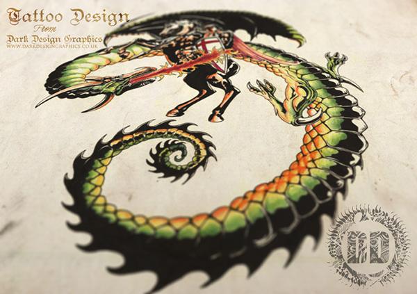 tattoo design from dark design graphics on behance. Black Bedroom Furniture Sets. Home Design Ideas