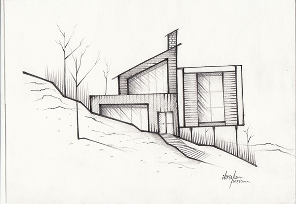 Architecture Sketch On Behance