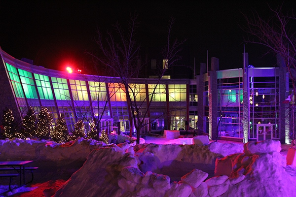 Lighting Design  fetival snow winter light Flying Canoe