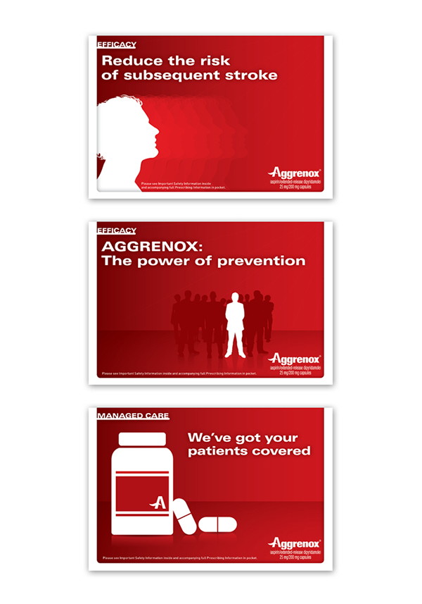 aggrenox flashcard concepts on behance