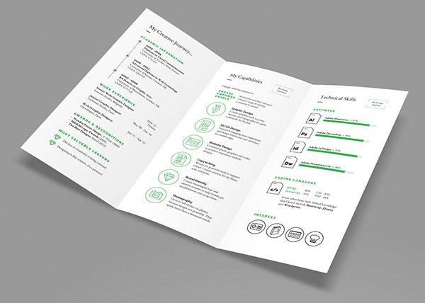stellar tri fold resume cv on behance