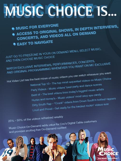 DEMETRA BAYLOR - music choice - promo ad