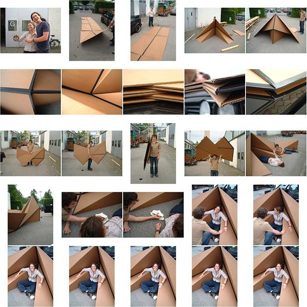 tent  cardboard  temporary  Outdoor  Folding