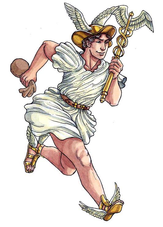 часто видел картинка древнегреческого бога гермеса только разных комнатах