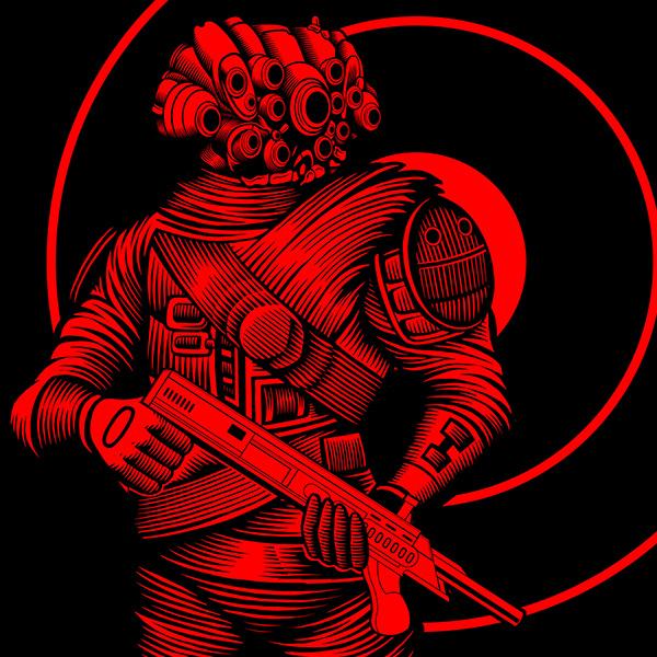 """""""Krig: the Blood Force"""" Mezco Toyz artwork"""