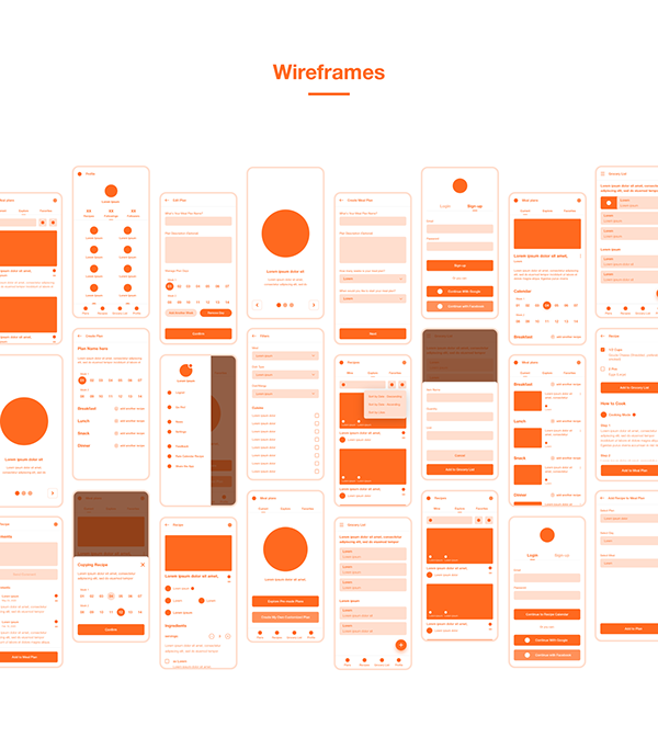 Recipe Calendar App Redesign Concept