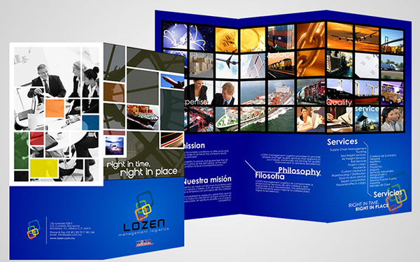 Lozen logistics brochure design on Behance