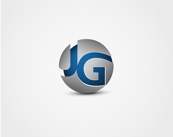 Jg monogram red   Lettering design, Letter logo design