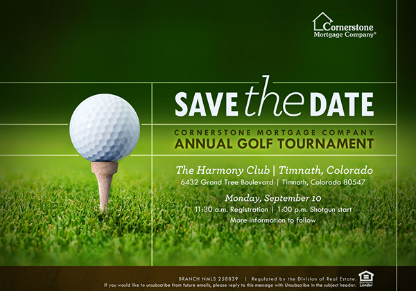2012 cornerstone annual golf tournament collateral on behance