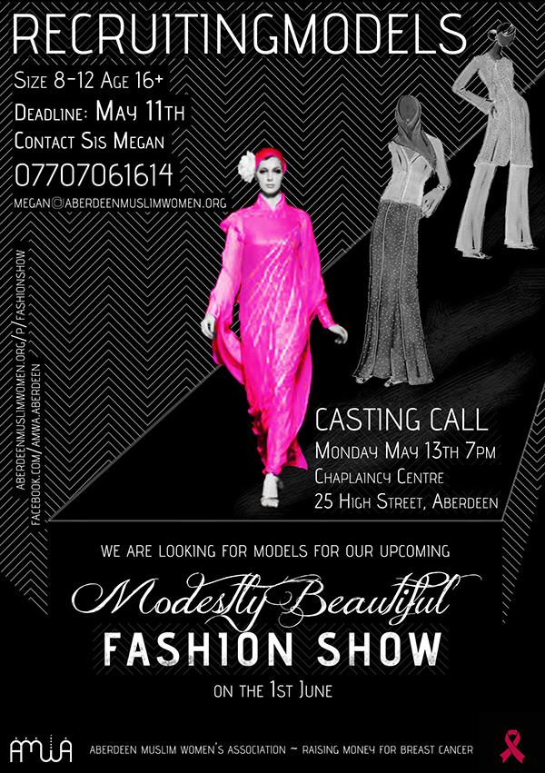 Charity fashion show flyer